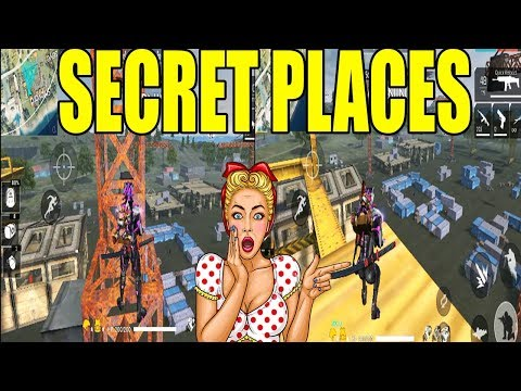 TOP 4 SECRET  PLACES IN BERMUDA MAP PART 2 | NEW SECRET PLACES FREE FIRE