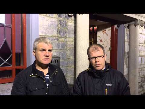 Peadar Toibin and Johnny Guirke canvassing in Athboy