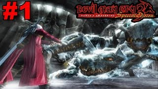 Devil May Cry 3 HD PS3 Gameplay #1: Missions 1-3 [Dante vs Cerberus]