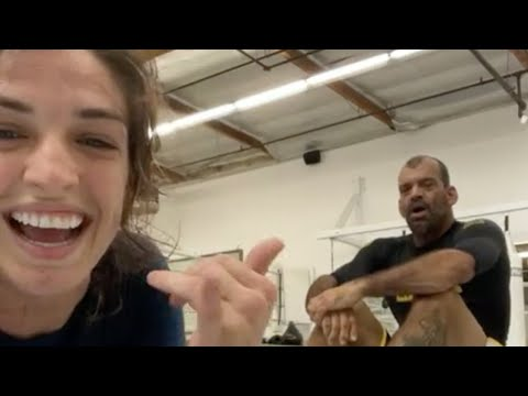 "Mackenzie Dern Rolling With Her Dad Wellington ""Megaton"" Dias"