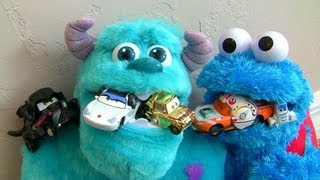Sulley Cookie Monster Eats Cars Darth Mater Lightning McQueen Star Wars Princess Sally Leia
