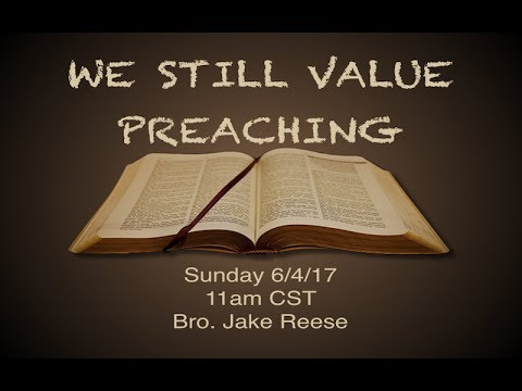 6/4/17 Sunday AM - Jake Reese