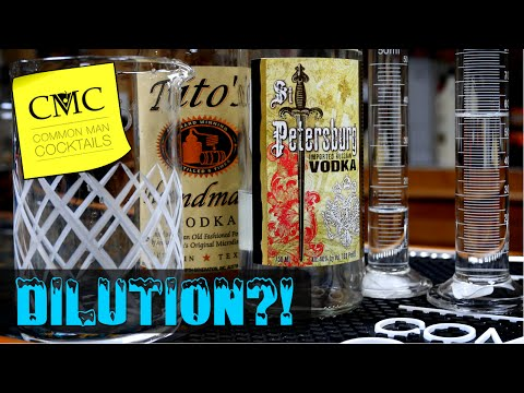 Frozen Vodka & Ice Dilution - Martini Test / The More You Know