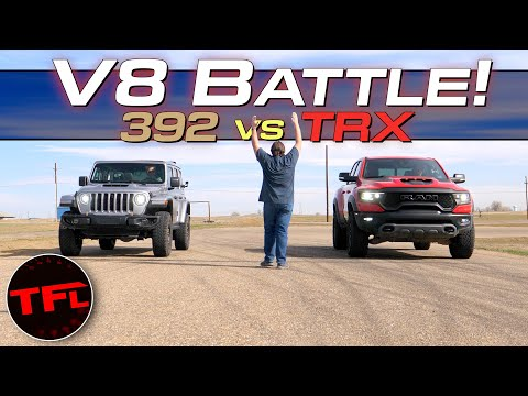 We Drag Race a new Jeep Wrangler 392 vs Ram TRX - It's Closer Than You Think! - The Fast Lane Truck