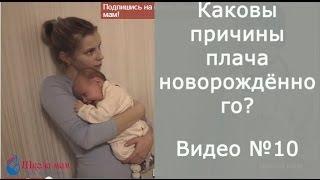 видео Новорожденный ребенок плачет