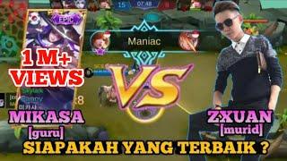 Perbedaan Gameplay Fanny MIKASA dan ZXUAN - GURU VS MURID_Duel Skylark   Mobile Legends