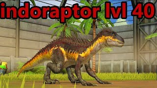 Jurassic World Game Mobile #135: Evolution max lvl 40 Indoraptor 3x