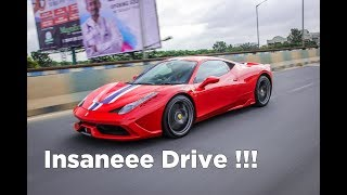 Ferrari 458 Speciale in India | Startup, Drive and Flyby  | Bangalore #158