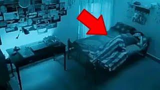 Lihat wanita yg sedang tidur ini , berikut 5 penampakan yg terekam kamera