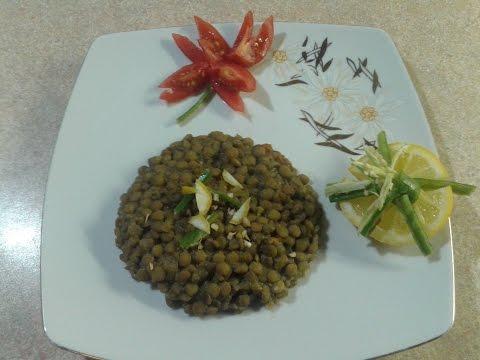 Острое блюдо:Зеленая чечевица по пакистански.