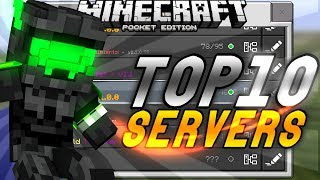 TOP 10 SERVIDORES PARA MINECRAFT POCKET EDITION 1.1.0-1.1.2-1.1.3