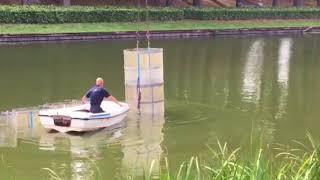 Proef blauwalg in Grolse gracht gestart 28 aug 2018