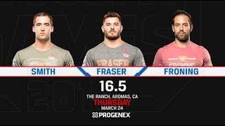 CrossFit Open 16.5 SMITH vs FRASER vs FRONING
