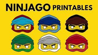 NinjaGO Lego Coloring Page Mask Printables