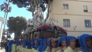 Procesión Gamarra 2015  Virgen en zona acotada