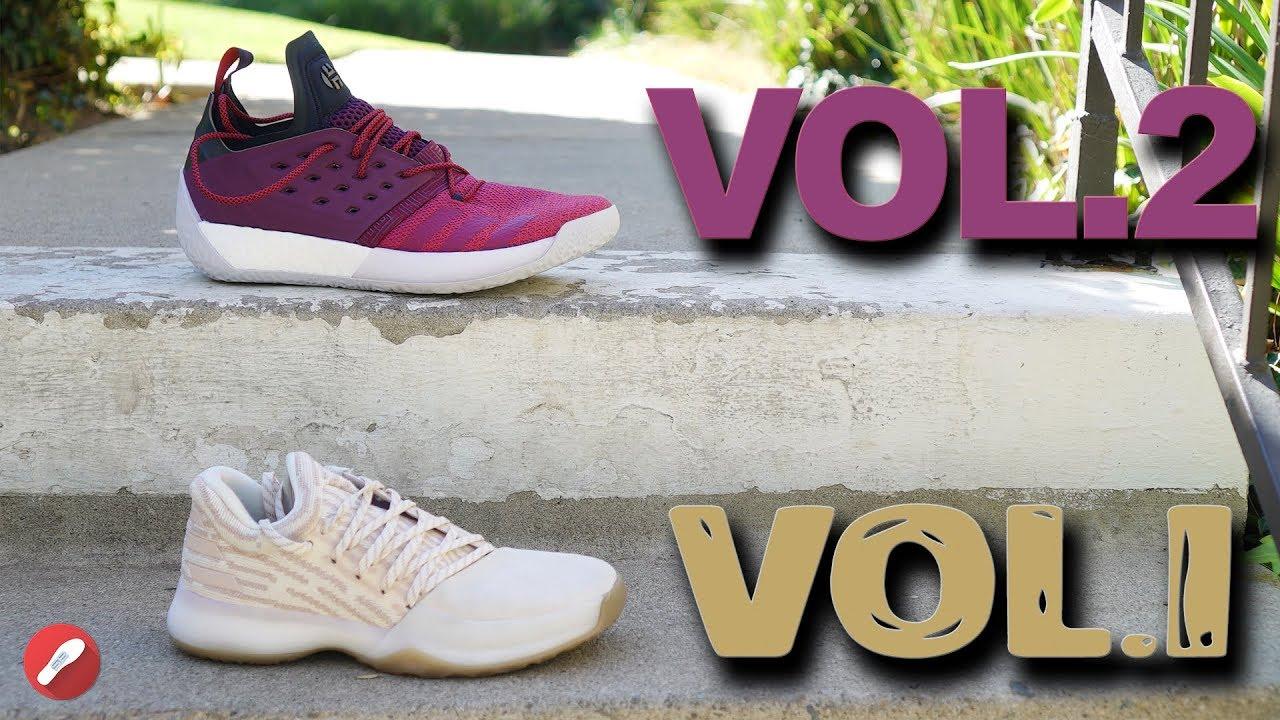 Adidas Harden Vol. 2   Harden Vol. 1 Comparison! What s Different ... 2ffcd78c5