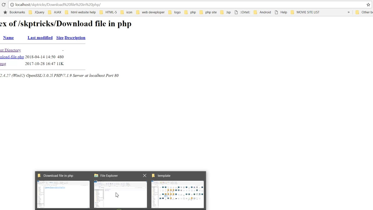 How to Download Files From Sever to Using PHP Script