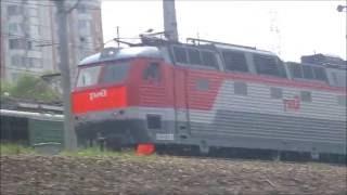Электровоз ЧС7-027 с пассажирским поездом, Москва / Elloc ChS7-327 with passenger train, Moscow(, 2016-08-29T12:08:18.000Z)