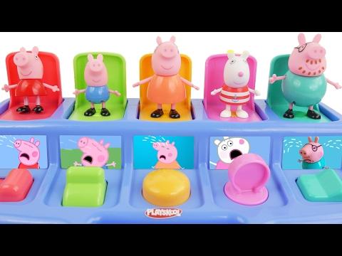 Peppa Pig Disney Pop Up Pocoyo Car Surprise Eggs Learn Colors & Numbers 1 to 10 Nursery Rhymes