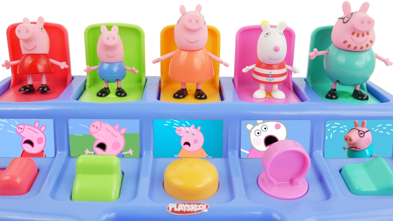 Pop up toy with Pig Peppa - YouTube
