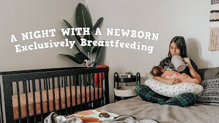 AN ENTIRE NIGHT WITH MY EXCLUSIVELY BREASTFED NEWBORN