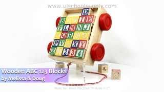Wooden Abc 123 Blocks By Melissa & Doug -- #1169