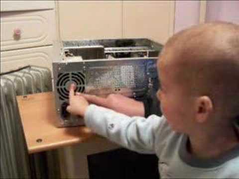 Smart Israelian Boy Recognizes Computer Parts