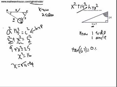 Find the Side Length of A Right Triangle