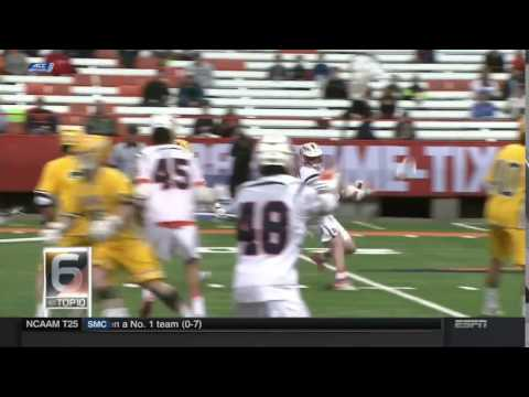 SU men's lacrosse made SportsCenter's Top 10 plays of the day.Syracuse lacrosse …