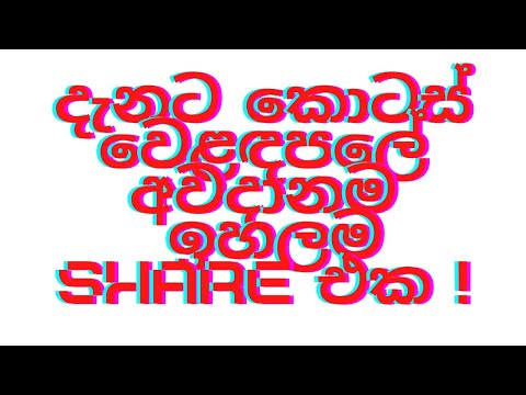 දැනට කොටස් වෙළඳපලේ අවදානම  ඉහලම Share එක. Share Market Sinhala!