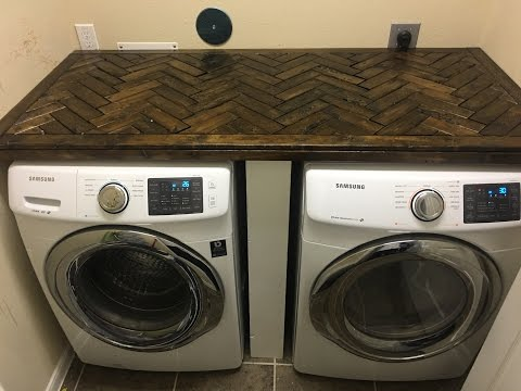 DiY How to build a Laundry Room Counter Top