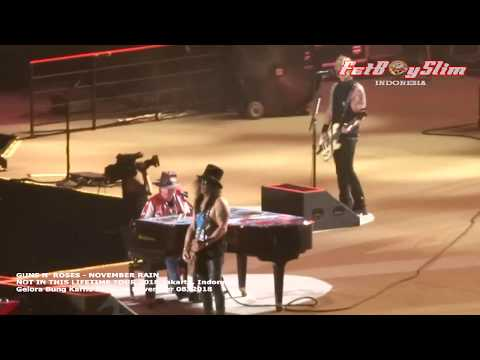 GUNS N ROSES - NOVEMBER RAIN live in JAKARTA 2018 NOT IN THIS LIVE TOUR 2018 Mp3