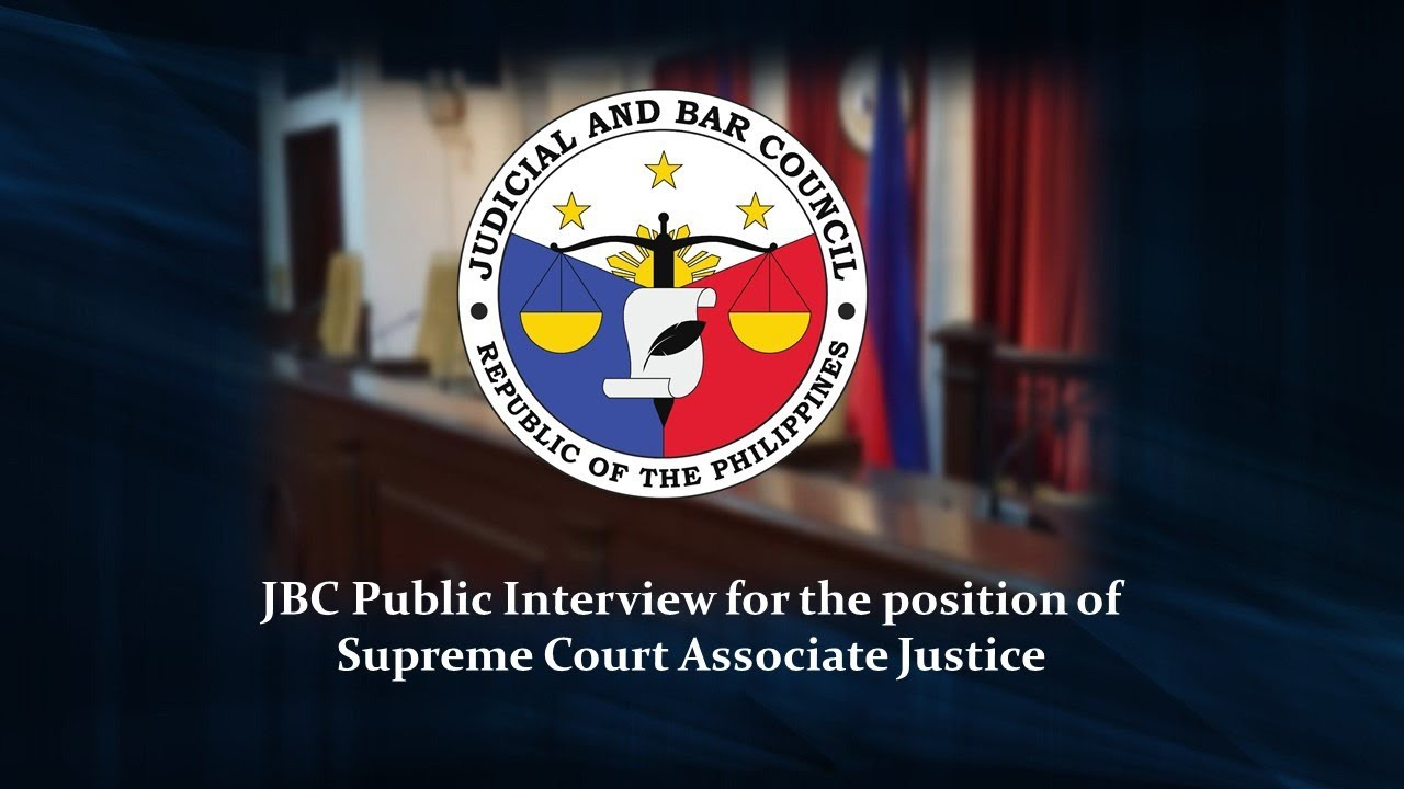 JBC Public Interview for the position of Associate Justice - August 26, 2020