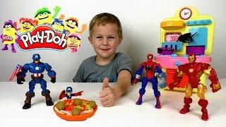 готовим обед для Капитана Америка! Пластилин Play Doh и Мистер сын шоу
