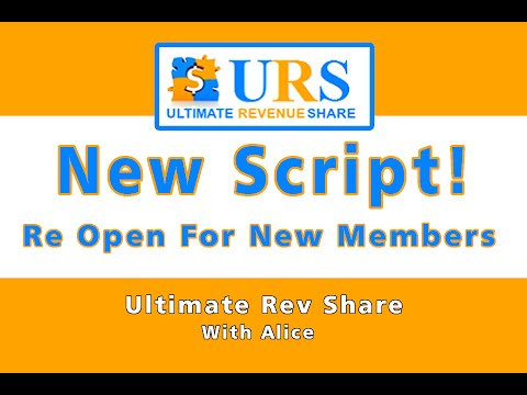 URS   Ultimate Revenue Share – NEW SCRIPT – Registrations Now Open For New Members