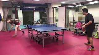 Ping Pong Player Hits Roller Shot Across Room - 1018974-4
