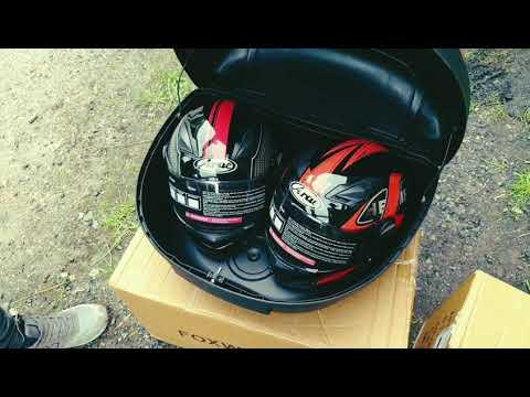 Кофр для мото на два шлема HF-818 обзор
