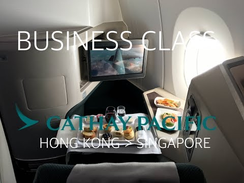 #17 Cathay Pacific | Business Class | CX635 | HONG KONG-SINGAPORE | Flight Review