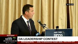 DA's John Steenhuisen avails himself for the position of party leader