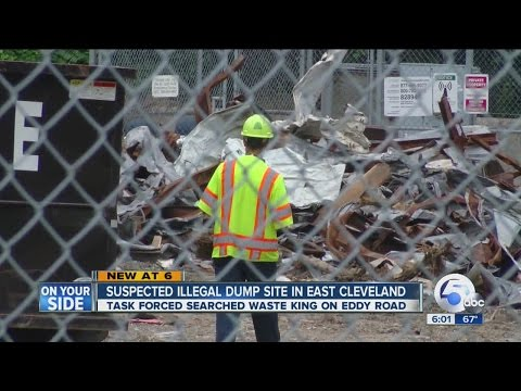 East Cleveland business, Waste King, busted for illegal dumping