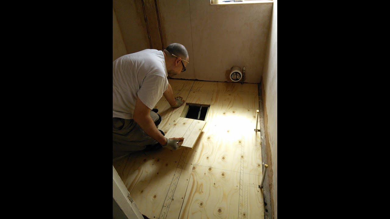 DIY: How to install a new plywood floor - YouTube