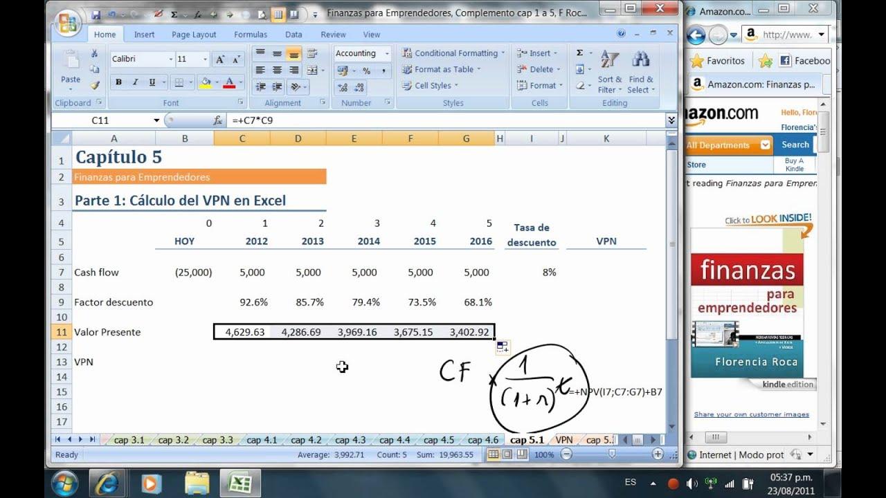 C mo calcular el valor presente neto en excel vpn van doovi - Calcular valor tasacion piso ...
