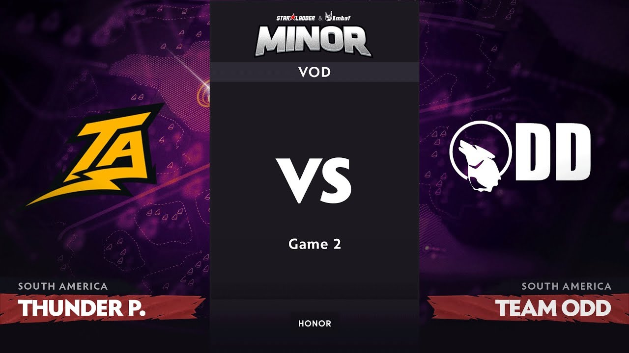 [RU] Thunder Predator vs Team Odd, Game 2, SA Qualifiers, StarLadder ImbaTV Dota 2 Minor