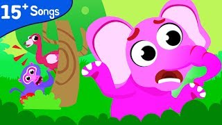 Where Are My Friends | Can You Find All The Jungle Animals? | Fun Kids Compilation by Little Angel