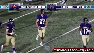 Hahnville 41, West Jefferson 6 (FULL GAME) - Kansas commit Pooka Williams runs for 162, 2 TD