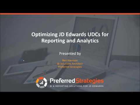 Optimizing JD Edwards User Defined Codes (UDCs) For Reporting & Analytics