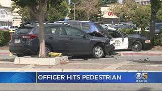Pedestrian, Three Others Injured In Redwood City Police Officer Crash