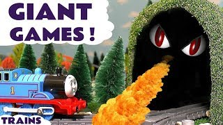 Thomas & Friends Giant Games - Train toy stories with dragon and Fireman Sam toys TT4U