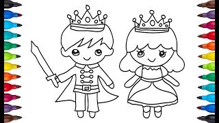 Drawing bride groom | bride groom easy drawing & coloring | color page for kids
