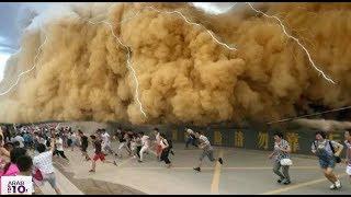 كوارث طبيعية حدثت في الشوارع  أثناء تنزه المار شاهد المفاجئة سبحان الله ..!!